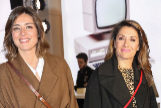 La presentadora Sandra Barneda y Nagore Robles en la presentación de un libro en febrero de 2019