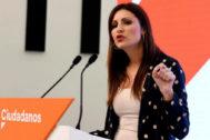Lorena Roldán, durante la rueda de prensa celebrada este lunes en Madrid.