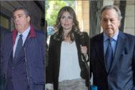 Los ex presidentes de Invercaria Francisco Álvaro Julio, Laura Gómiz y Tomás Pérez-Sauquillo.