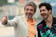 Ricardo Darín y su hijo 'Chino' Darín en el Festival de Cine de San Sebastián.