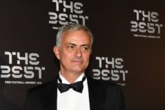 Portuguese coach Jose Mourinho arrives for <HIT>The</HIT> <HIT>Best</HIT> FIFA Football Awards ceremony, on September 23, 2019 at Teatro alla Scala in Milan. (Photo by Tiziana FABI / AFP)