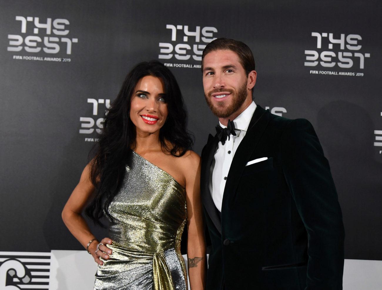 Sergio Ramos  y su mujer, Pilar Rubio.