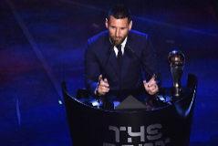 Lionel Messi tras ganar el The Best.