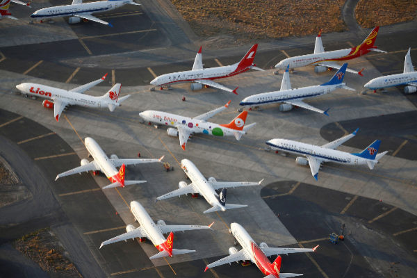 FILE PHOTO: An aerial photo shows <HIT>Boeing</HIT> <HIT>737</HIT> MAX...