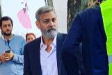 George Clooney, hace unas horas en la calle Velázquez.