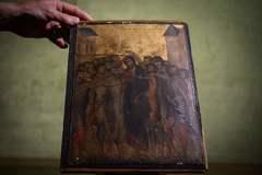 """El cuadro del pintor Cimabue, llamado """"El Cristo burlado""""."""