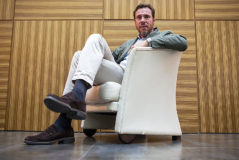 El alcalde de Valladolid, Óscar Puente, en la entrevista con EL MUNDO