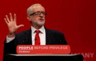 Jeremy Corbyn, durante su discurso en la conferencia de Brighton.