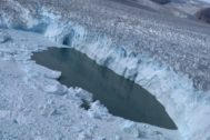 Imagen del glaciar Helheim, en Groenlandia, tomada en agosto de 2019.
