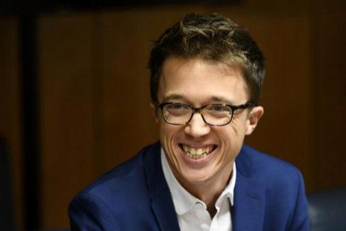 Íñigo Errejón, ayer, en la reunión de la Junta de Portavoces de la...