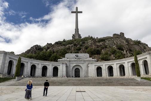 El Valle de los Caídos, ayer, cuando se conoció la sentencia del...