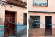 Cadenas en un portal y precinto policial en otro, muestran la inseguridad.