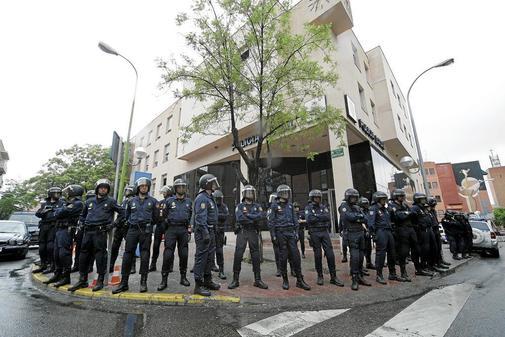 Agentes de la Unidad de Intervención Policial (UIP), antidisturbios.