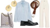 Esta semana, te proponemos un conjunto que mezcla aires masculinos pero sofisticados para la mujer. En total, este outfit cuesta 6.523 euros.