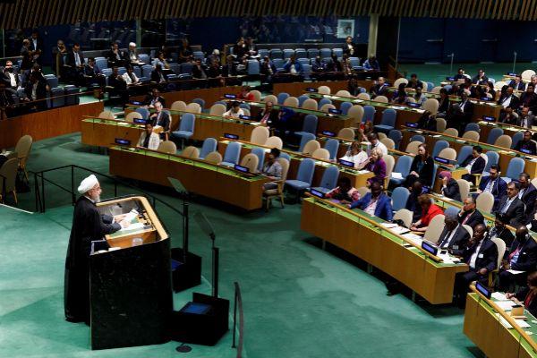 New York (United States).- Iran&apos;s President Hassan <HIT>Rouhani</HIT>...
