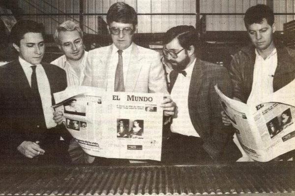 Melchor Miralles, Víctor Conde, Alfonso de Salas, Juan González y...
