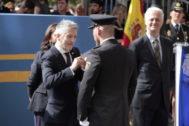 El ministro del Interior en  funciones, Fernando Grande-Marlaska, este miércoles, en un acto en Logroño.