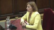 La ex presidenta del Parlamento catalán, Carme Forcadell, en un momento de su declaración en el juicio del 'procés'.