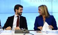 Pablo Casado y Ana Camins.