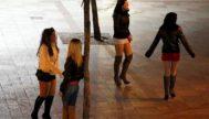 Mujeres en la calle ejerciendo la prostitución.