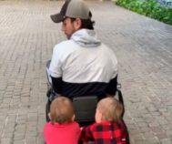 Enrique Iglesias junto a sus hijos