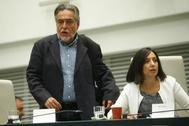 Pepu Hernández y Mercedes González, en el Pleno del Ayuntamiento