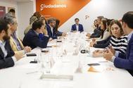 Reunión del Comité Permanente de Ciudadanos, el pasado lunes.