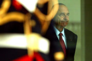 Paris (France), 27/06/2003.- (FILE) - French President Jacques <HIT>Chirac</HIT> waits for Hamid Karazai Afghan President prior their meeting at Elysee Palace in Paris, France, 27 June 2003 (reissued 26 September 2019). According to reports, former French President Jaques <HIT>Chirac</HIT> died peacefully surrounded by his family, aged 86. The former French president Jacques <HIT>Chirac</HIT>'s health was troubled ever since a 2005 stroke he suffered while still in office. He was head of state from 1995 to 2007, was twice president, twice prime minister and 18 years as mayor of Paris. (Francia) EPA/