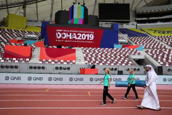 <HIT>Doha</HIT> (Qatar).- Officials walk in the Khalifa International...