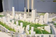 Maqueta de presentación del proyecto Madrid Nuevo Norte.