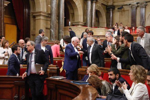 Imagen del Parlamento de Cataluña, en el Pleno de este jueves.