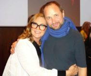 Francesca Thyssen junto a Tomás Saraceno