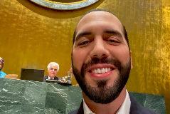 El 'selfie' del presidente de El Salvador en la ONU.