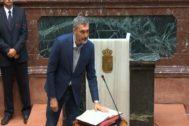 Óscar Urralburu jura su cargo como diputado de la Asamblea de Murcia, el pasado mes de junio.