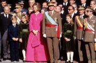 La Reina Sofía, vestida por las Molinero.