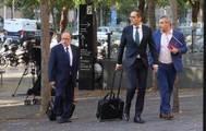 Los abogados del Barça, en la Ciudad de la Justicia.
