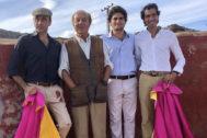 De izquierda a derecha: Enrique Ponce, Samuel Flores, Adolfo Suárez Flores y Curro Díaz