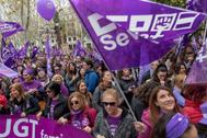 Imagen de la última manifestación del 8 de marzo en Sevilla.
