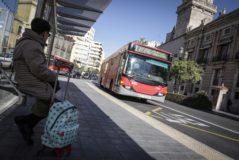 Un autobús de la EMT de Valencia.