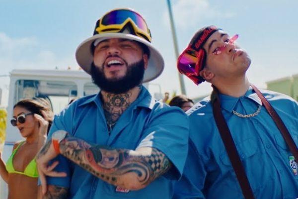 Farruko y Bad Bunny en el vídeo de La Cartera, su nueva colaboración