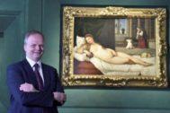 El historiador del arte Eike  Schmidt en la Galería Uffizi de Florencia (Italia).