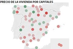 El precio de la vivienda ya baja en 6 CCAA y 15 capitales