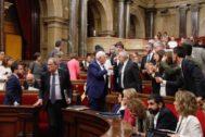 El Parlament de Cataluña el pasado jueves.