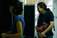 Pablo Iglesias, líder de Podemos, a su llegada al Consejo Ciudadano Estatal que celebra la formación.