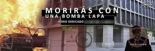 Detalle de un vídeo difundido por yihadistas, en el que amenazan a un magistrado de la Audiencia Nacional.