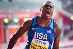 Vuela Coleman en los 100 metros, un hombre enfadado con el mundo
