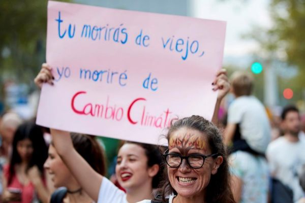 Manifestación por la emergencia climática en Barcelona.