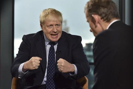 Captura de pantalla del primer ministro británico durante la...