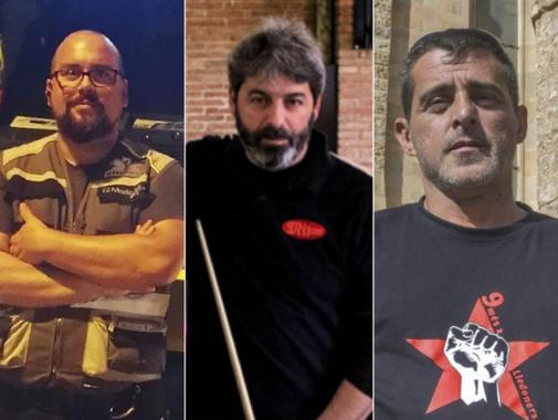 De izqda. a dcha., Ferran Jolis, Xavier Duch y Eduard Garzón,...