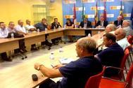Reunión del Juzgado Privativo de Aguas de Orihuela y la CHS, tras la DANA.